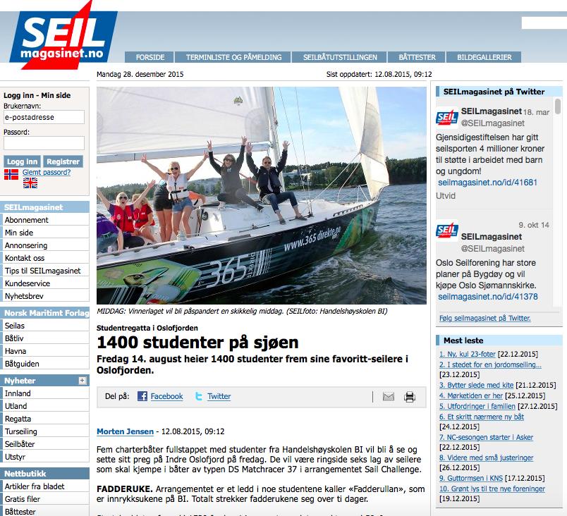 Screen Shot Artikkel SEILmagasinet